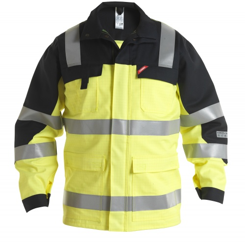 Safety+ Jakk EN 20471 - Kollane/Must