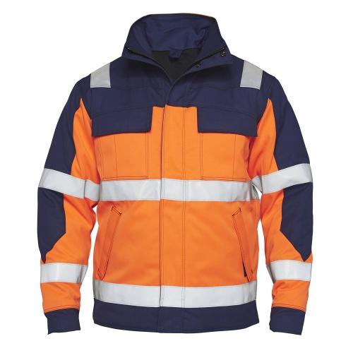 Safety+ Talve Jakk EN 20471 - Oranž/Navy